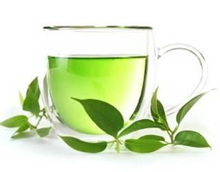 una tazza di te verde